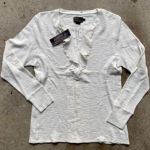 NWT Pendleton Thermal Shirt Henley Long Sleeve Top
